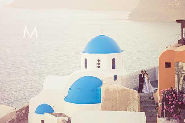 Santorini Destination Wedding Photographer | Leslie and Ryan