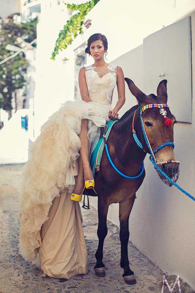 Santorini Trash the Dress