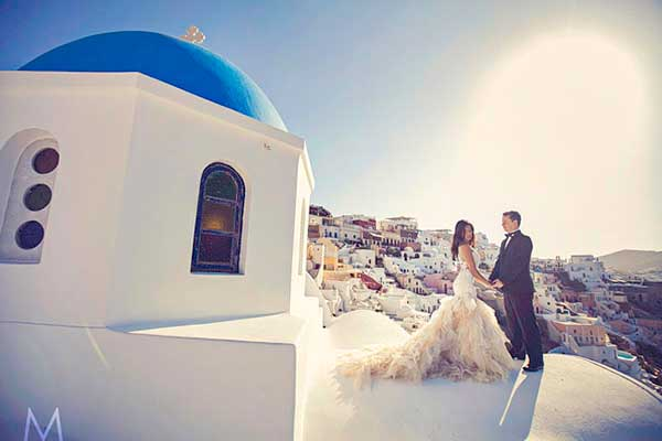Santorini Trash the Dress