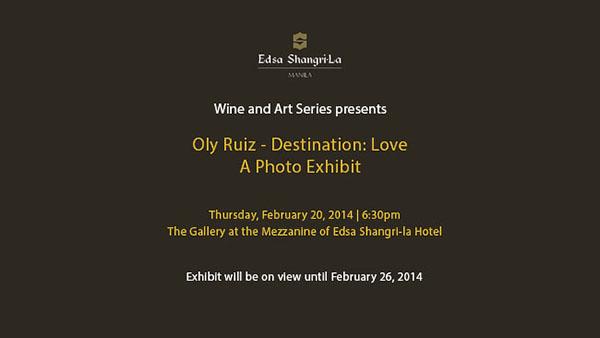 Destination Love: Oly Ruiz first Photo Exhibit