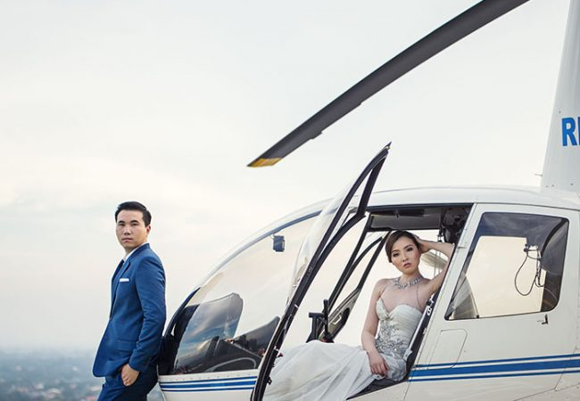 Helicopter Pre-Wedding | Pia and Alvin